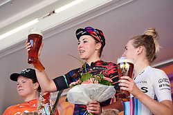 Cheers! Lisa Klein (GER) toasts the crowd at Lotto Thüringen Ladies Tour 2019 - Stage 4, a 114.8 km road race in Gotha, Germany on May 31, 2019. Photo by Sean Robinson/velofocus.com