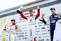 Dino Zamparelli wins Race 2 with the fastest lap | GT Marques | #88 Porsche 911 GT3 Cup | Porsche Carrera Cup GB | Race 2 - Mandatory byline: Rogan Thomson/JMP - 19/06/2016 - MOTORSPORT - Croft Circuit - Dalton-on-Tees, England - BTCC Meeting Day 2.