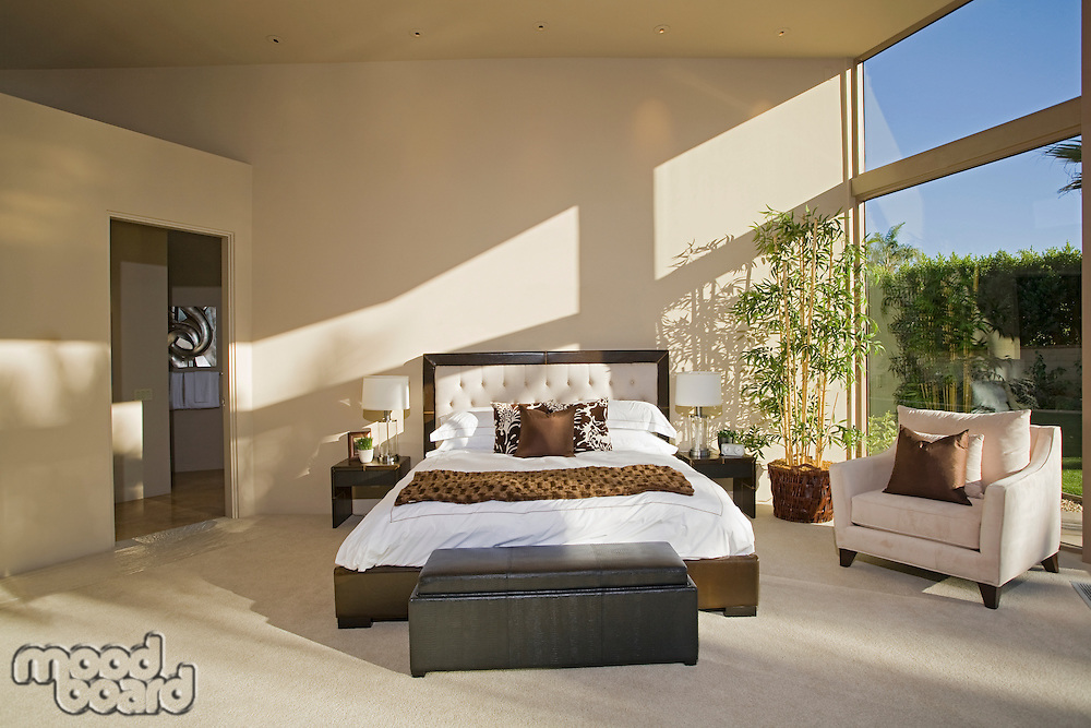 Sunlit Palm Springs bedroom