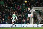 Dundee's Darren O'Dea heads clear - Celtic v Dundee in the Ladbrokes Scottish Premiership at Celtic Park, Glasgow. Photo: David Young<br /> <br />  - © David Young - www.davidyoungphoto.co.uk - email: davidyoungphoto@gmail.com