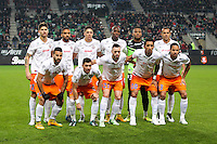 Equipe Montpellier - 06.12.2014 - Rennes / Montpellier - 17eme journee de Ligue 1 -<br />Photo : Vincent Michel / Icon Sport