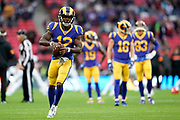 LA Rams Wide Receiver Brandin Cooks (12) warm up during the International Series match between Los Angeles Rams and Cincinnati Bengals at Wembley Stadium, London, England on 27 October 2019.