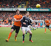 Dundee United's Gavin Gunning and Dundee&rsquo;s Nick Ross - Dundee United v Dundee in the Ladbrokes Premiership at Tannadice<br /> <br />  - &copy; David Young - www.davidyoungphoto.co.uk - email: davidyoungphoto@gmail.com