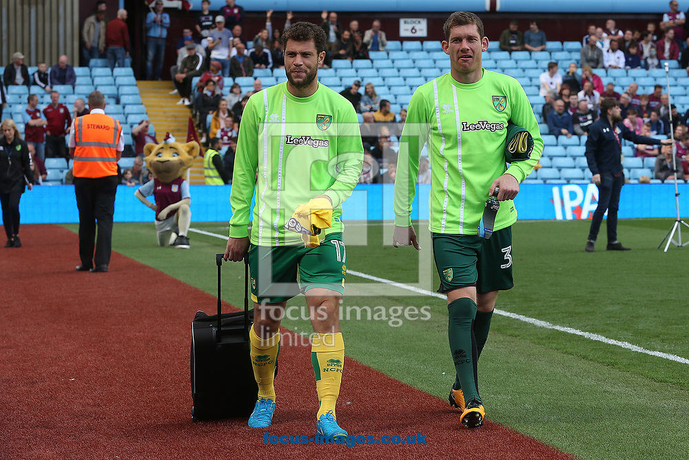 Yanic Wildschut of Norwich and Michael McGovern of Norwich before the Sky Bet Championship match at Villa Park, Birmingham<br /> Picture by Paul Chesterton/Focus Images Ltd +44 7904 640267<br /> 19/08/2017