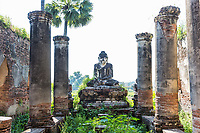 ruins of the ancient kingdom of Ava Amarapura  Mandalay state Myanmar (Burma)