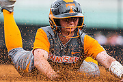 KNOXVILLE,TN - MARCH 12, 2016 - Infielder/Outfielder Aubrey Leach #10 during the game between the Arkansas Razorbacks and the Tennessee Volunteers at Sherri Parker Lee Stadium in Knoxville, TN. Photo By Craig Bisacre/Tennessee Athletics