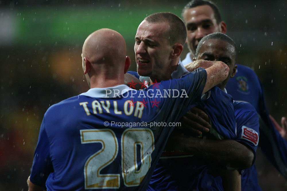 Watford, England - Saturday, January 6, 2007: Stockport County's David Poole celebrates scores the first goal against Watford during the FA Cup 3rd Round match at Vicarage Road. (Pic by Chris Ratcliffe/Propaganda)