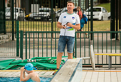 Gorazd Podrzavnik, head coach during practice session of Slovenian Swimming National Team, on June 7, 2017 in Zusterna, Koper / Capodistria, Slovenia. Photo by Vid Ponikvar / Sportida