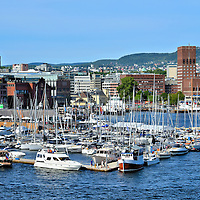 Landmarks Along Pipervika Harbor in Oslo, Norway <br />