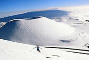 Skiing down Mauna Kea,  Big Island of Hawaii