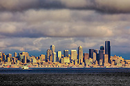Seattle skyline and Elliot Bay