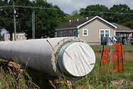 The Bayou Bridge pipeline during the installation process in Youngsville, Louisiana.