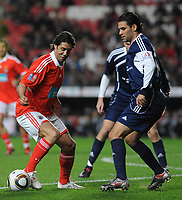 20100125: LISBON, PORTUGAL - 7th Charity Football Match against Poverty: SL Benfica All Stars vs Zidane & Kaka Friends. All the money rose from ticket sales and donations will go to the victims of Haiti Earthquake. In picture: Rui Costa and Rafael Marquez. PHOTO: Alvaro Isidoro/CITYFILES