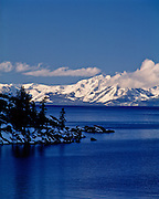 Lake Tahoe Winter Mountain Shoreline