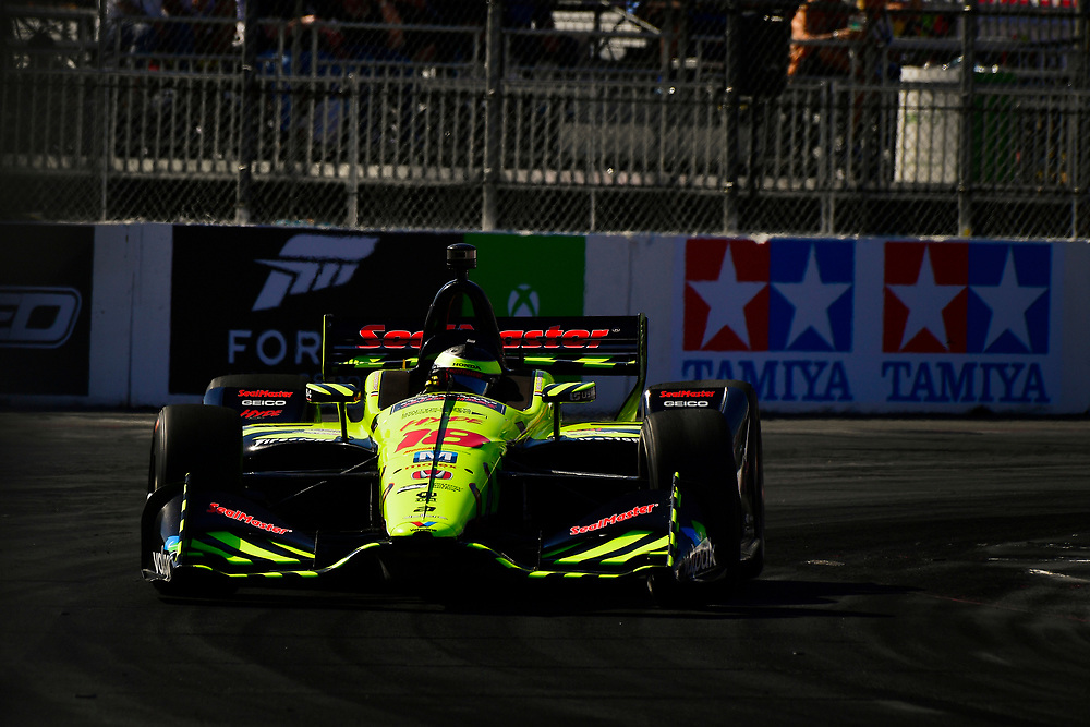 S&eacute;bastien Bourdais, Dale Coyne Racing with Vasser-Sullivan Honda<br /> Saturday 14 April 2018<br /> Toyota Grand Prix of Long Beach<br /> Verizon IndyCar Series<br /> Streets of Long Beach, California USA<br /> World Copyright: Scott R LePage<br /> LAT Images