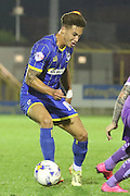 David Fitzpatrick AFC Wimbledon during the Johnstone's Paint Trophy match between AFC Wimbledon and Plymouth Argyle at the Cherry Red Records Stadium, Kingston, England on 1 September 2015. Photo by Stuart Butcher.