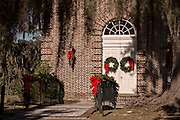 Christmas wreaths on Whitefield Chapel at the Bethesda Home for Boys Savannah, GA.
