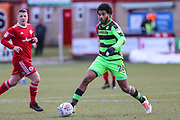Forest Green Rovers Reuben Reid(26) on the ball during the EFL Sky Bet League 2 match between Accrington Stanley and Forest Green Rovers at the Wham Stadium, Accrington, England on 17 March 2018. Picture by Shane Healey.
