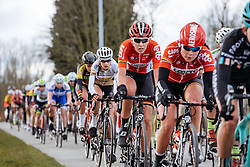 Anouk Rijff goes on her way to a top ten finish - Dwars door Vlaanderen 2016, a 103km road race from Tielt to Waregem, on March 23rd, 2016 in Flanders, Netherlands.