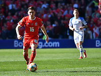 Football - 2018 / 2019 Euro Championship 2020 qualifying round. Wales v SLOVAKIA <br /> <br /> Harry Wilson of Wales on the attack<br /> at Cardiff City Stadium<br /> <br /> COLORSPORT/WINSTON BYNORTH