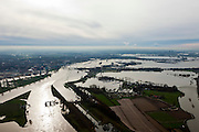 Nederland, Limburg, Roermond, 15-11-2010; Hoogwater bij Roermond, Maasplassen en ondergelopen uiterwaarden. .Maas at high water, the flood plains are inundated. Roermond city..luchtfoto (toeslag), aerial photo (additional fee required).foto/photo Siebe Swart