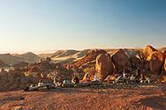 Africa, Namibia, Damaraland, Namib,  Movani, tourists at happy hour in resort