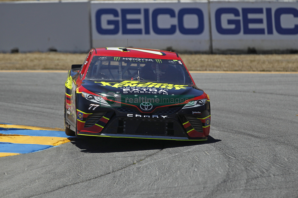 June 23, 2017 - Sonoma, CA, United States of America - June 23, 2017 - Sonoma, CA, USA: Erik Jones (77) takes to the track to practice for the Toyota/Save Mart 350 at Sonoma Raceway in Sonoma, CA. (Credit Image: © Justin R. Noe Asp Inc/ASP via ZUMA Wire)