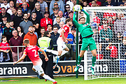 Salford City goalkeeper Chris Neal makes a save  during the EFL Sky Bet League 2 match between Salford City and Port Vale at Moor Lane, Salford, United Kingdom on 17 August 2019.