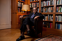 31 MAY 2010, BERLIN/GERMANY:<br /> Jagdish Natwarlal Bhagwati, indischer Oekonom und Professor fuer Politik und Wirtschaft an der Columbia University, nach einem Interview, Bibiothek der American Academy<br /> IMAGE: 20100531-02-110<br /> KEYWORDS: Jagdish Bhagwati, Ökonom