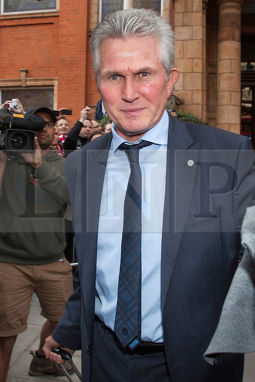 © licensed to London News Pictures. London, UK 26/05/2013. Bayern Munich manager Jupp Heynckes and FC Bayern Munich players leaving The Landmark Hotel in central London on Sunday, 26 May 2013 after their UEFA Champions League victory in Wembley Stadium against Borussia Dortmund. Photo credit: Tolga Akmen/LNP