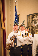 Members of American Legion Post 288 post the colors during the LCMS Ministry to the Armed Forces Recognition Dinner, part of the 66th Regular Convention of The Lutheran Church–Missouri Synod, on Sunday, July 10, 2016, in Milwaukee. LCMS/Michael Schuermann