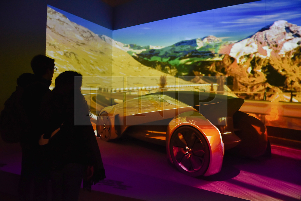 "© Licensed to London News Pictures. 19/09/2017. London, UK. Automotive manufacturer Jaguar presents an immersive view of the future at an exhibition called ""Design Frontiers'' at Somerset House.  Forming part of London Design Festival, the exhibition showcases works from over 30 international designers. Photo credit : Stephen Chung/LNP"