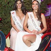 NLD/Hilversum/20131208 - Miss Nederland finale 2013,  Miss Nederland Universe Yasmin Verheijen en Miss Nederland World Tatjana Maul