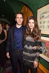 Cameron Macomie and Sarah Ann Macklin at the Annabel's Bright Young Things Party held at Annabel's, 44 Berkeley Square, London England. 16 February 2017.