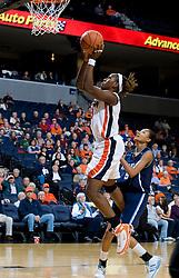 Virginia center Aisha Mohammed (33) shoots on an open look to the basket.  The Virginia Cavaliers women's basketball team defeated the Rhode Island Rams 89-53 at the John Paul Jones Arena in Charlottesville, VA on January 9, 2008.