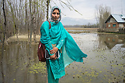 Fozia Nazir, a Humanitarian Field Officer in Save the Children Kashmir, poses for a portrait in Purnishadashah village, Jammu and Kashmir, India, on 24th March 2015. Fozia works 4 days a week in the field. (This is for A day in a life interview) Photo by Suzanne Lee for Save the Children