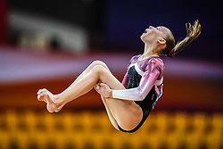October 28, 2018 - Doha, Quatar - Victoria Kajoe of  Denmark   during  Floor qualification at the Aspire Dome in Doha, Qatar, Artistic FIG Gymnastics World Championships on 28 of October 2018. (Credit Image: © Ulrik Pedersen/NurPhoto via ZUMA Press)