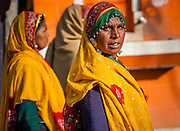 Women in colorful saris (India)