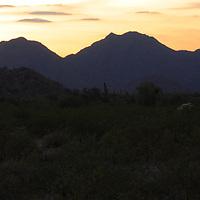 Quiet sunset over the hills of San Tan Regional Park - Queen Creek, AZ