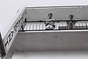 Teenage boys on hotel balcony, Ibiza, Spain, 1984