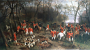 Elizabeth of Bavaria (1837-1898)  centre, fox hunting, maybe with Count Julius Andrassy.  Elizabeth, a superb horsewoman and keen follower to hounds, was a regular visitor to England during hunting season.  Wilhelm Richter  (1824-92) painter to Austrian royal family. Oil on canvas.