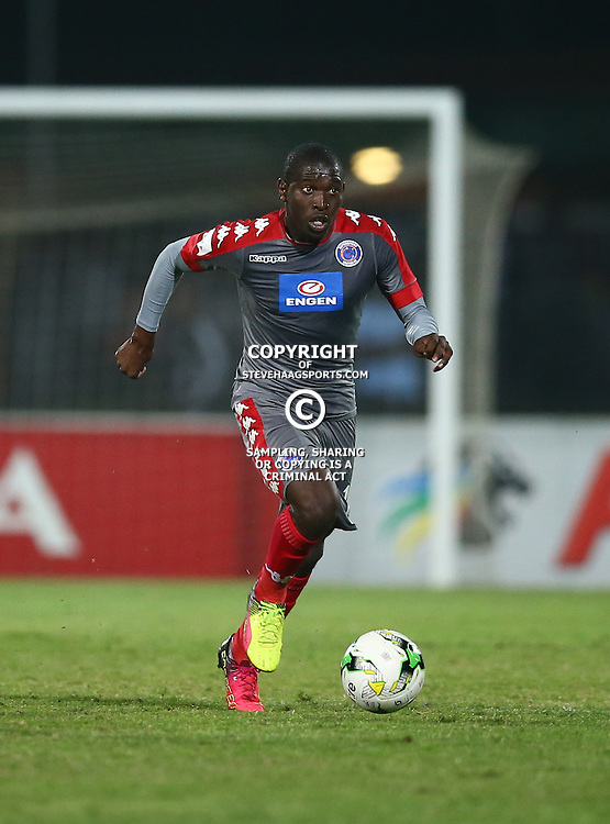 Aubrey Modiba of SuperSport United during the 2016 Premier Soccer League match between Maritzburg Utd and SuperSport United held at the Harry Gwala Stadium in Pietermaritzburg, South Africa on the 21st September 2016<br /> <br /> Photo by:   Steve Haag / Real Time Images