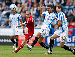 Grant Leadbitter of Middlesbrough shoots just wide of the upright - Photo mandatory by-line: Rogan Thomson/JMP - 07966 386802 - 13/09/2014 - SPORT - FOOTBALL - Huddersfield, England - The John Smith's Stadium - Huddersfield town v Middlesbrough - Sky Bet Championship.