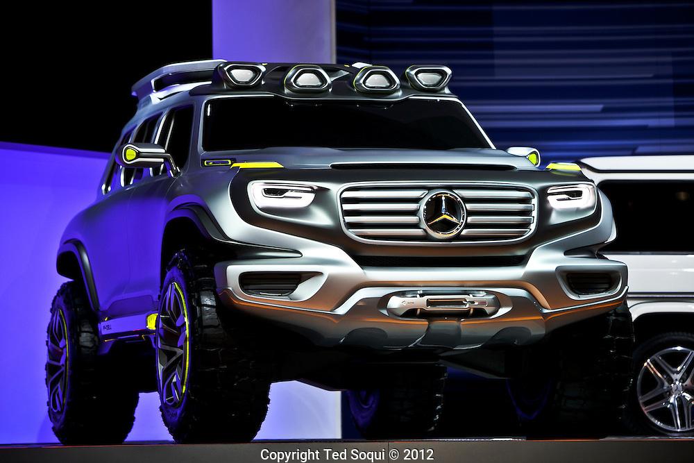 LA Auto Show press preview at the LA Convention Center..Mercedes-Benz G series concept off-road vehicle.