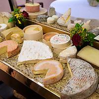 Cheese cart at the Relais & Chateaux La Cote Saint-Jacques.