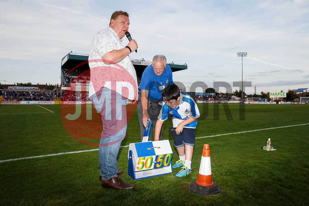 50/50 half time draw - Mandatory byline: Rogan Thomson/JMP - 07966 386802 - 31/07/2015 - FOOTBALL - Memorial Stadium - Bristol, England - Bristol Rovers v West Bromwich Albion - Phil Kite Testimonial Match.