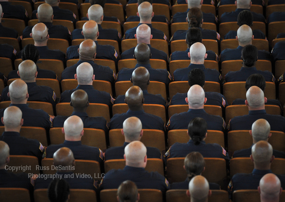 Black heads and white heads, all brothers in blue during a Law Enforcement Memorial Service at The Great Auditorium in Ocean Grove, NJ. / Photo by Russ DeSantis Photography and Video, LLC