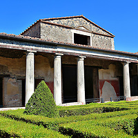 Peristyle and Garden at House of Menander in Pompeii, Italy <br />