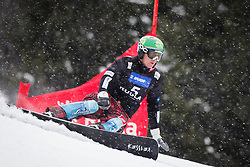 Rok Marguc (SLO) competes during Qualification Run of Men's Parallel Giant Slalom at FIS Snowboard World Cup Rogla 2016, on January 23, 2016 in Course Jasa, Rogla, Slovenia. Photo by Ziga Zupan / Sportida