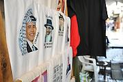 Israel, Jerusalem, Old City, the Market Street President Obama wearing a keffiyeh printed on a T-shirt